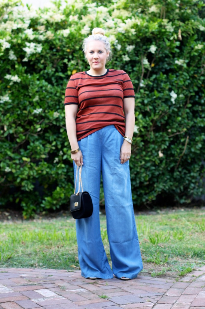 Memorial Day Outfit-Target Style-Who What Wear for Target-Maternity Style-Chambray Wide leg Pants-Have Need Want 5