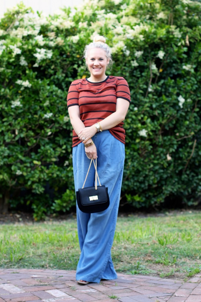 Memorial Day Outfit-Target Style-Who What Wear for Target-Maternity Style-Chambray Wide leg Pants-Have Need Want 6