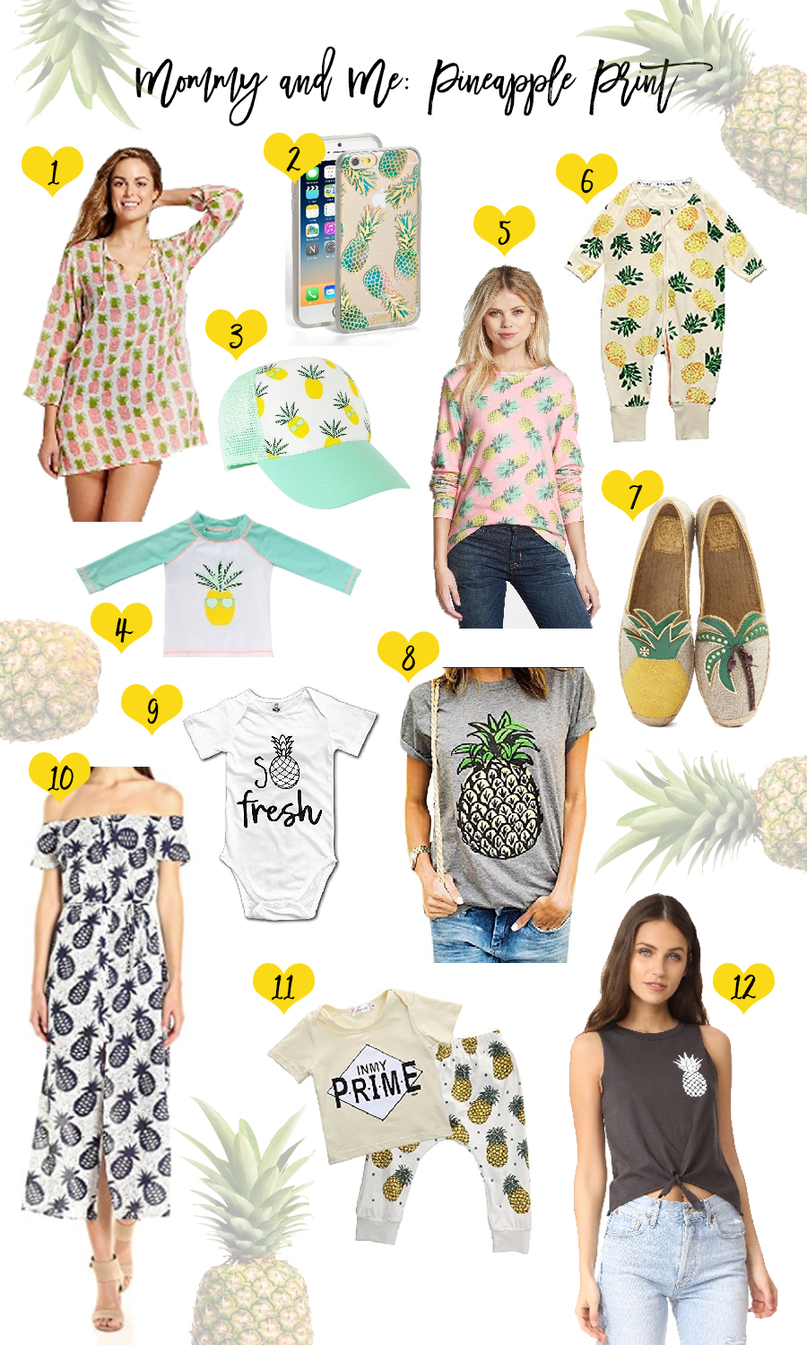 Mommy and Me Pineapple Print-Outfit Inspiration-Mama and Baby Boy Matching Outfits-How to Coordinate Outfits with your Baby Boy-Have Need Want