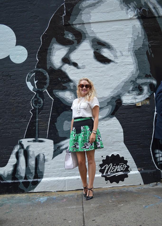 NYFW Street Style, Fashion Blogger, DVF, Kendra Scott, Nine West, French Connection, New York Fashion Week Day One Street Style