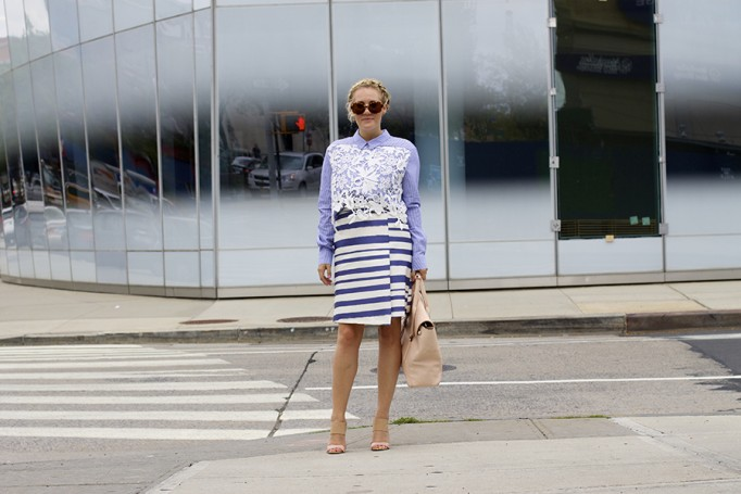 NYFW-Street Style-Fashion Blogger-Endless Rose-Topshop-Stripes and Lace-NYFW Day 3 Street Style 3