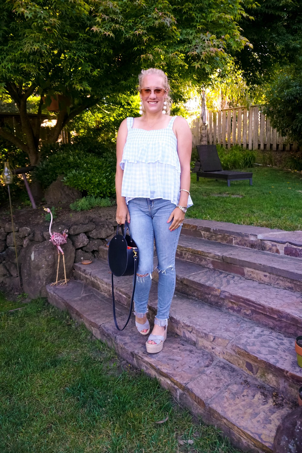 Pale Blue Gingham-Rebecca Minkoff Top-Gingham Top-Outfit Inspiration-Summer Style-Have Need Want 2