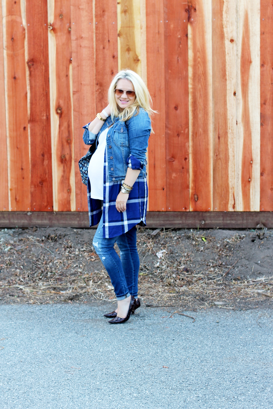 Plaid Shirtdress-Maternity Style-Styling Your Baby Bump-Styling Tips-Pregnancy Style-Have Need Want 11