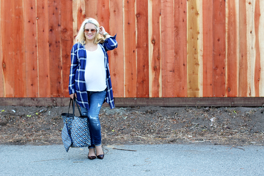 Plaid Shirtdress-Maternity Style-Styling Your Baby Bump-Styling Tips-Pregnancy Style-Have Need Want 4