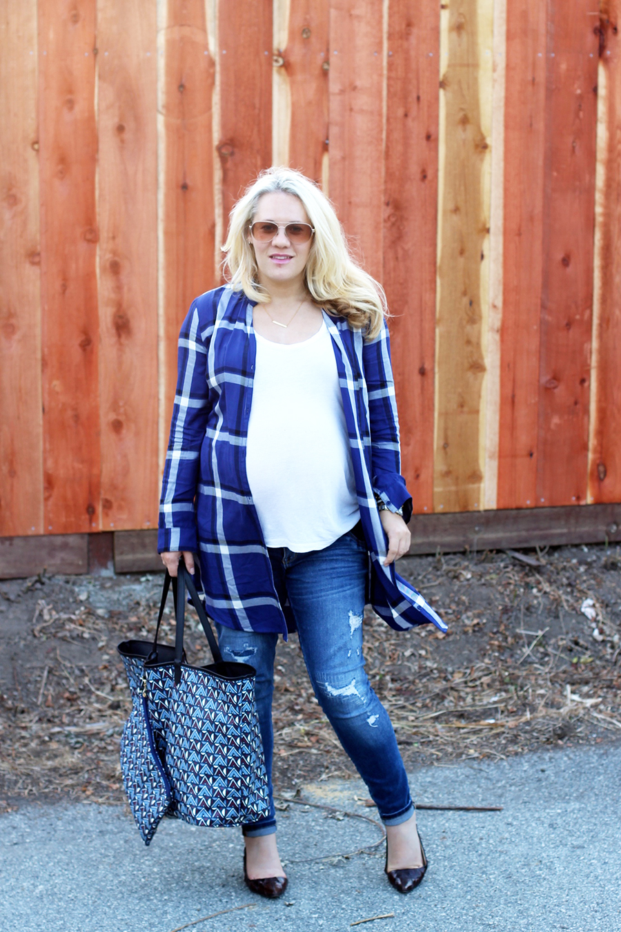 Plaid Shirtdress-Maternity Style-Styling Your Baby Bump-Styling Tips-Pregnancy Style-Have Need Want 5