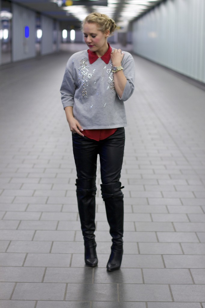 New York Street Style, Fashion Week, FW 15, Outfit Inspiration, Pop of Red