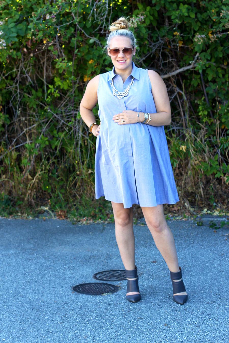 Rachel Roy-Sleeveless Shirtdress-Swing shirtdress-maternity style-outfit inspiration-have need want 10