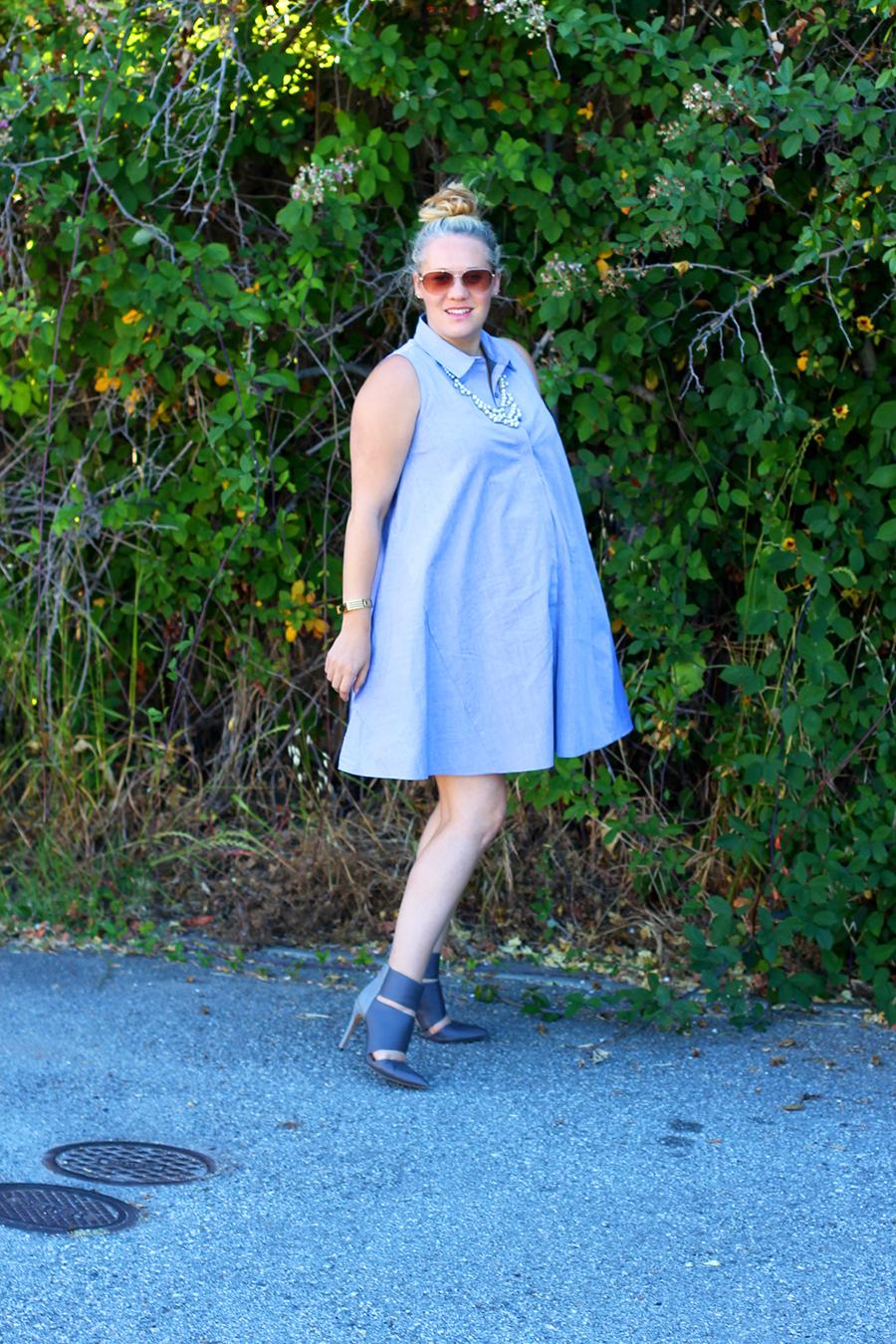 Rachel Roy-Sleeveless Shirtdress-Swing shirtdress-maternity style-outfit inspiration-have need want 3