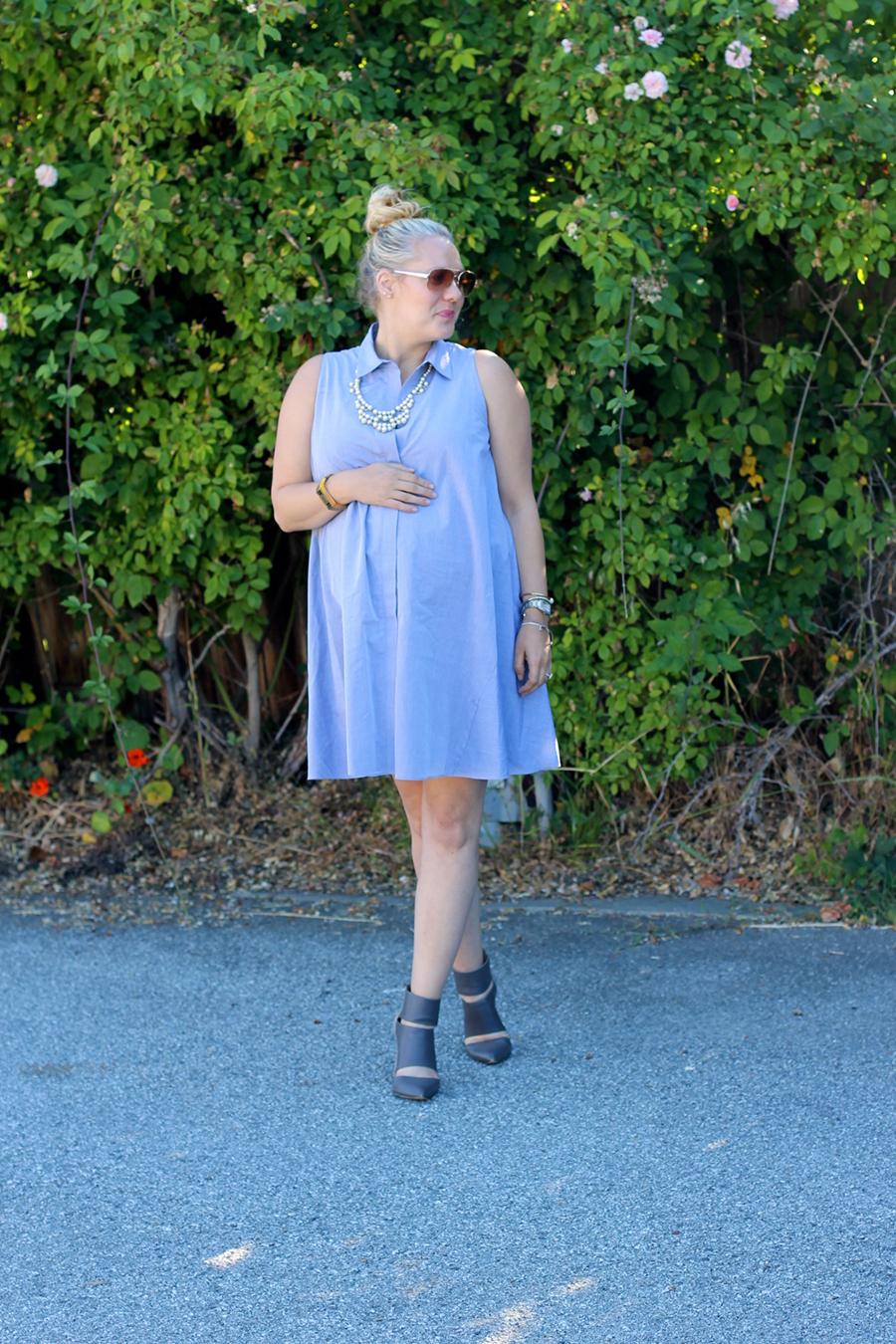 Rachel Roy-Sleeveless Shirtdress-Swing shirtdress-maternity style-outfit inspiration-have need want 4