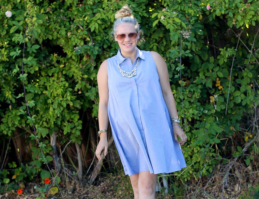 Rachel Roy-Sleeveless Shirtdress-Swing shirtdress-maternity style-outfit inspiration-have need want 5