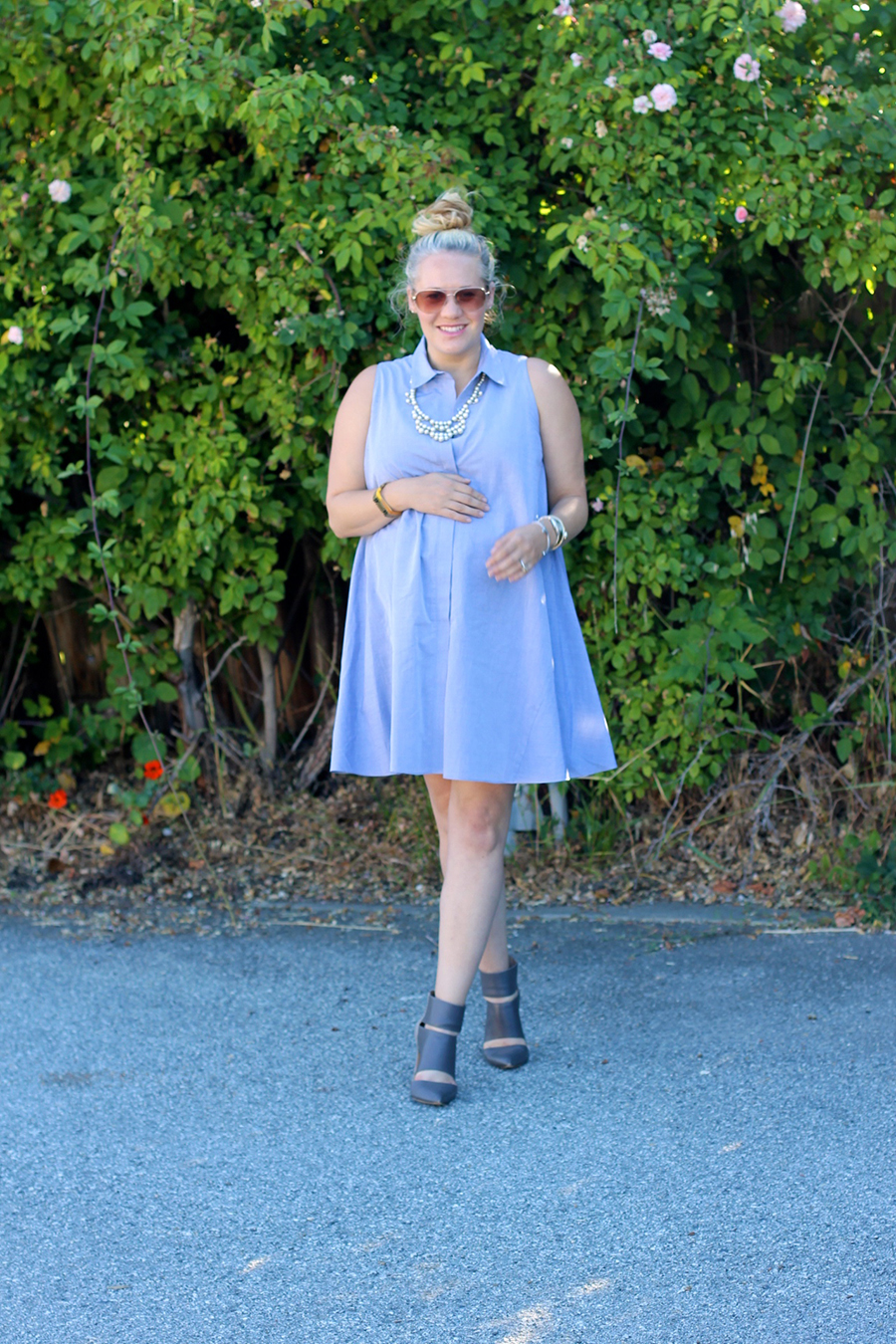 Rachel Roy-Sleeveless Shirtdress-Swing shirtdress-maternity style-outfit inspiration-have need want 6