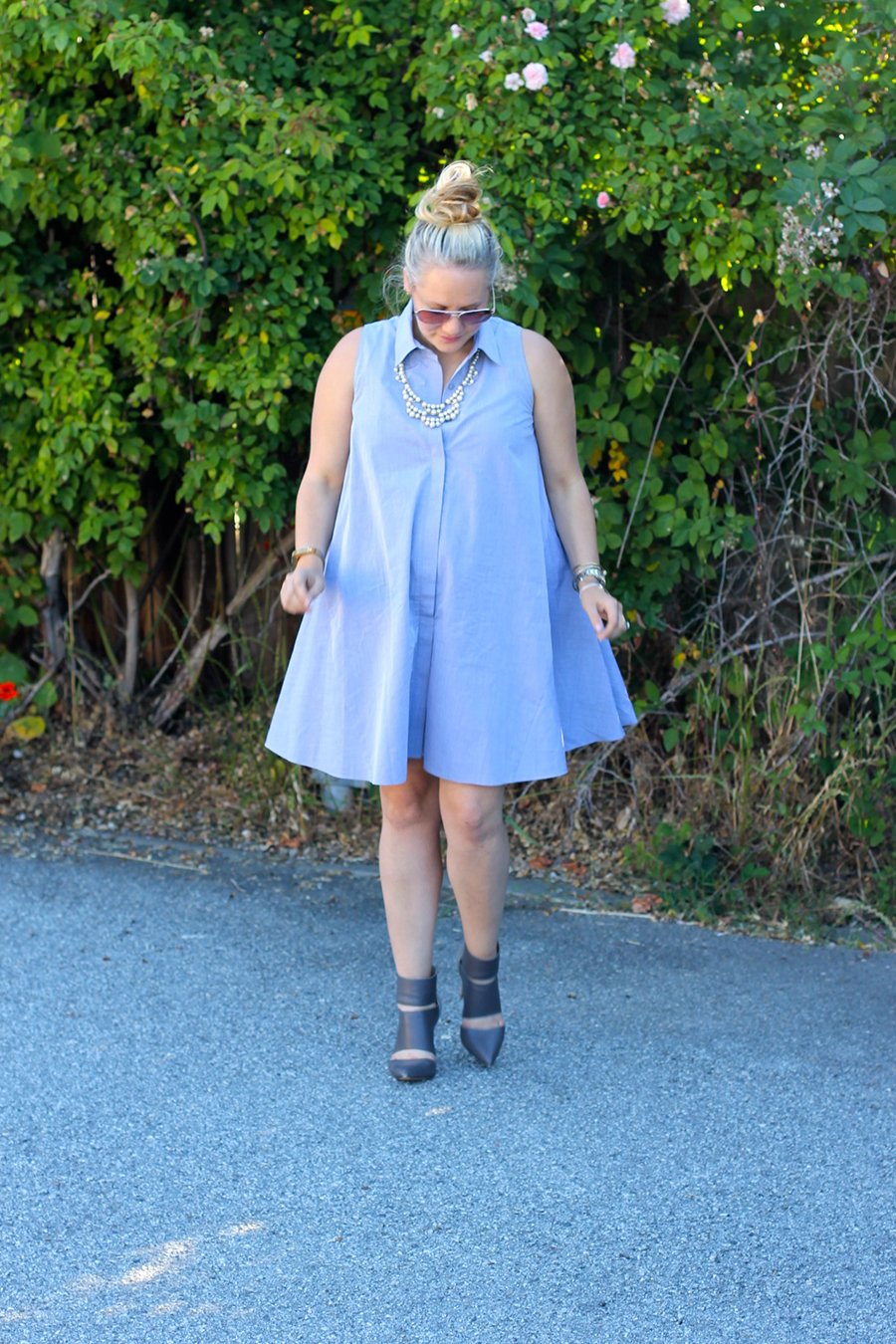 Rachel Roy-Sleeveless Shirtdress-Swing shirtdress-maternity style-outfit inspiration-have need want 7