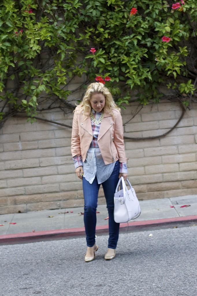 Rebecca Minkoff Intermix Joes Jeans AGL Phillip Lim Peach Leather Jacket Moto Jacket 2