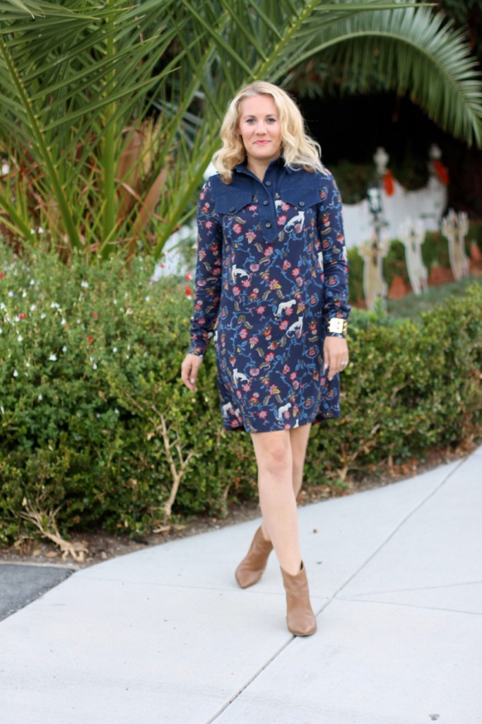 See by Chloe-Have Need Want-Bay Area Fashion Blogger-Kenneth Cole Reaction-Booties-Fall Style-Bauble Bar-Olivia Palermo for Bauble Bar-Shirt Dress-Fall Shirt Dress-Outfit Inspiration 1