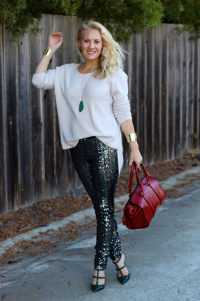 Sequin Pants-Holiday Outfit Inspiration-Have Need Want-Fashion Blogger-BB Dakota-Valentino-Burberry-Bay Area Fashion Blogger 3
