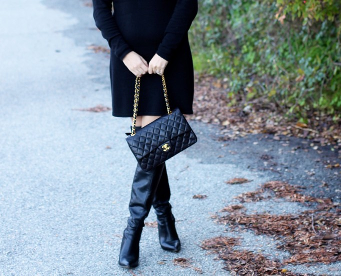 Skunkfunk-Sweater Dress-Bay Area Fashion Blogger-Outfit Inspiration-Sweater Weather-Have Need Want-Chanel Handbag 6