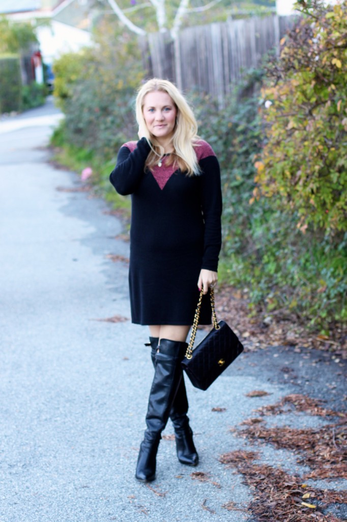 Skunkfunk-Sweater Dress-Bay Area Fashion Blogger-Outfit Inspiration-Sweater Weather-Have Need Want-Chanel Handbag 8