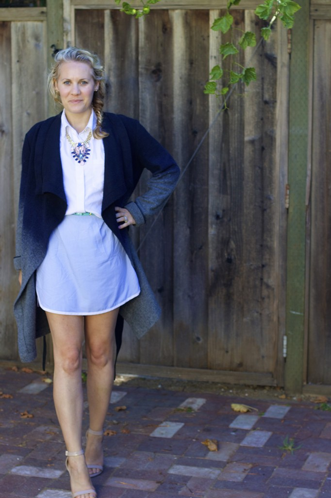 Sleeveless shirtdress statement necklace fashion blogger have need want 2