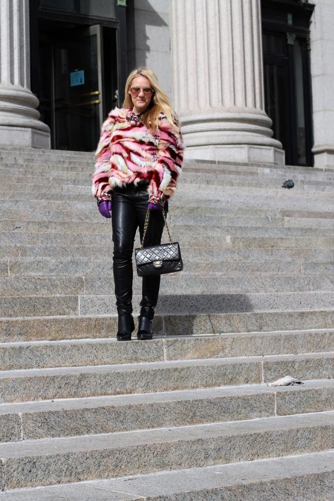 NYFW Street Style, Faux Fur Jacket, Giamba, FW16 Street Style, Bloggers at Fashion Week, Fashion Week Street Style