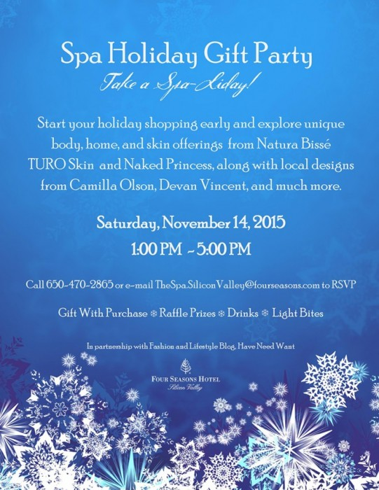 You're Invited!: Spa-Liday at the Four Seasons Silicon Valley