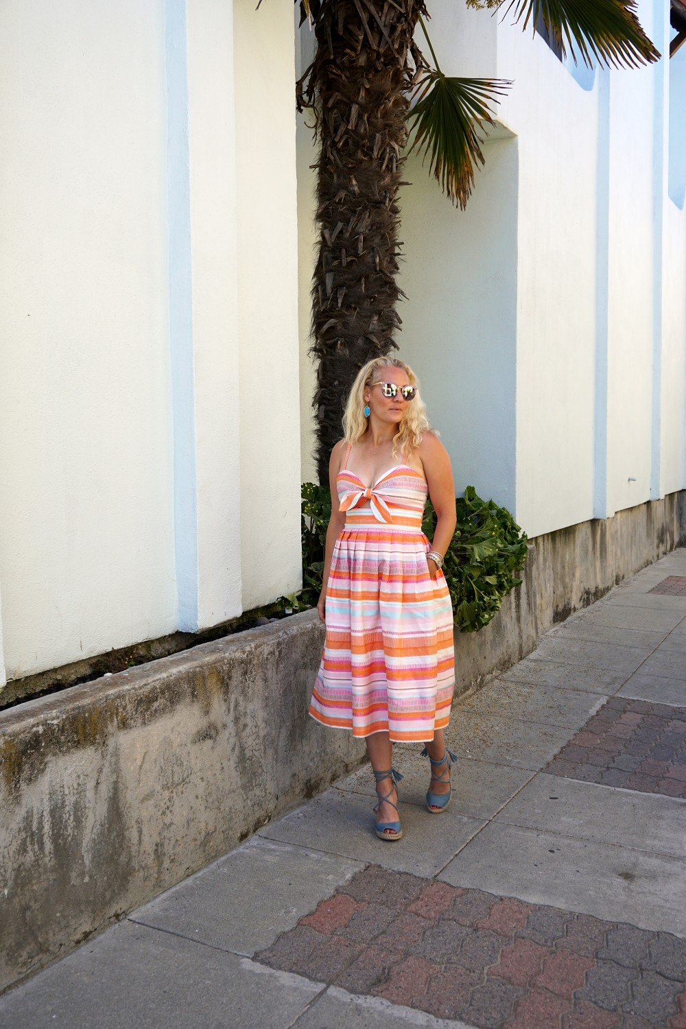 Spring Stripe Dress-Stripes and Cut Outs-Outfit Inspiration-Bay Area Blogger-Summer Dress-Sunday Best Outfit Inspiration-Have Need Want 11