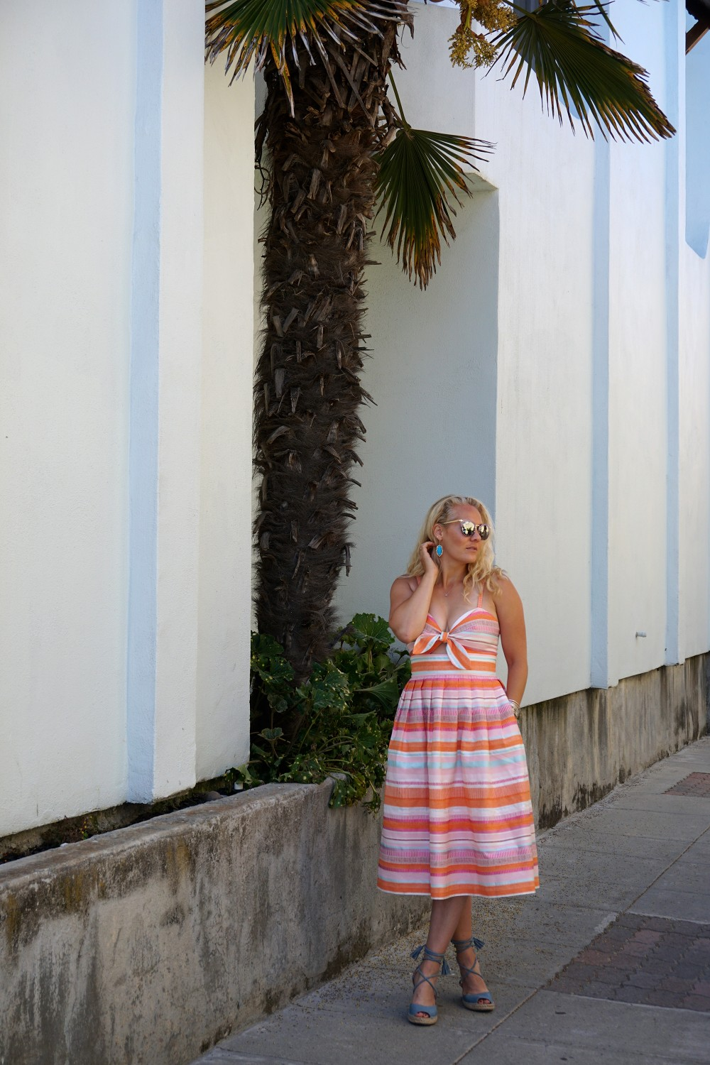 Spring Stripe Dress-Stripes and Cut Outs-Outfit Inspiration-Bay Area Blogger-Summer Dress-Sunday Best Outfit Inspiration-Have Need Want 2
