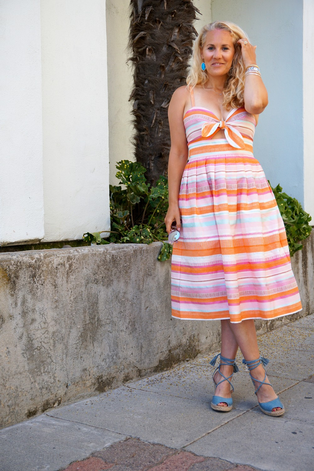 Spring Stripe Dress-Stripes and Cut Outs-Outfit Inspiration-Bay Area Blogger-Summer Dress-Sunday Best Outfit Inspiration-Have Need Want 3