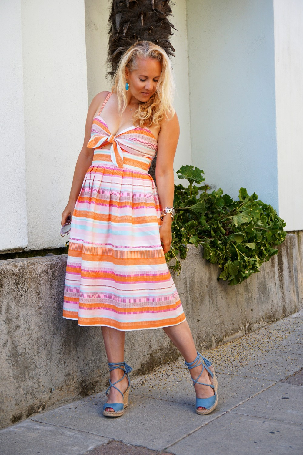 Spring Stripe Dress-Stripes and Cut Outs-Outfit Inspiration-Bay Area Blogger-Summer Dress-Sunday Best Outfit Inspiration-Have Need Want 5