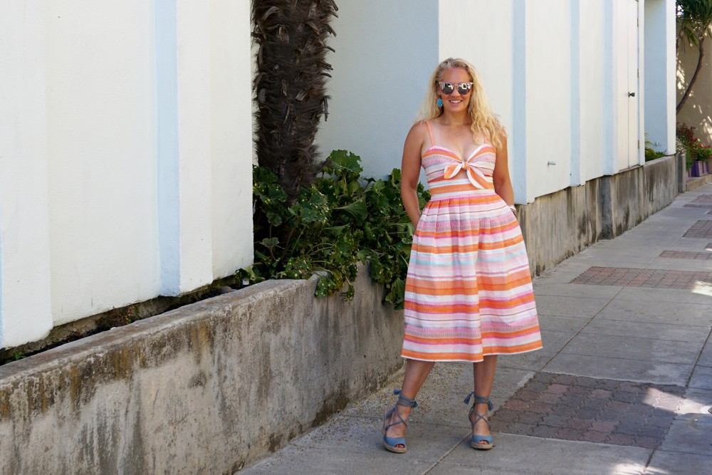 Spring Stripe Dress-Stripes and Cut Outs-Outfit Inspiration-Bay Area Blogger-Summer Dress-Sunday Best Outfit Inspiration-Have Need Want 6