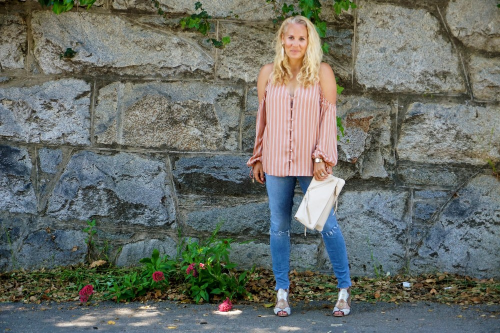 Stripe cold shoulder top-cold shoulder trend-spring style-outfit inspiration-have need want 2
