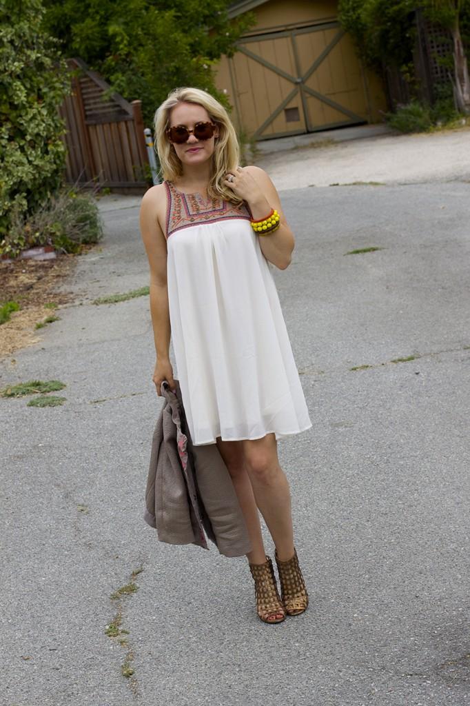 The Mint Julep Boutique Embellished Dress Flowy Dress Fashion Blogger Outfit Inspiration Summer Dress 4