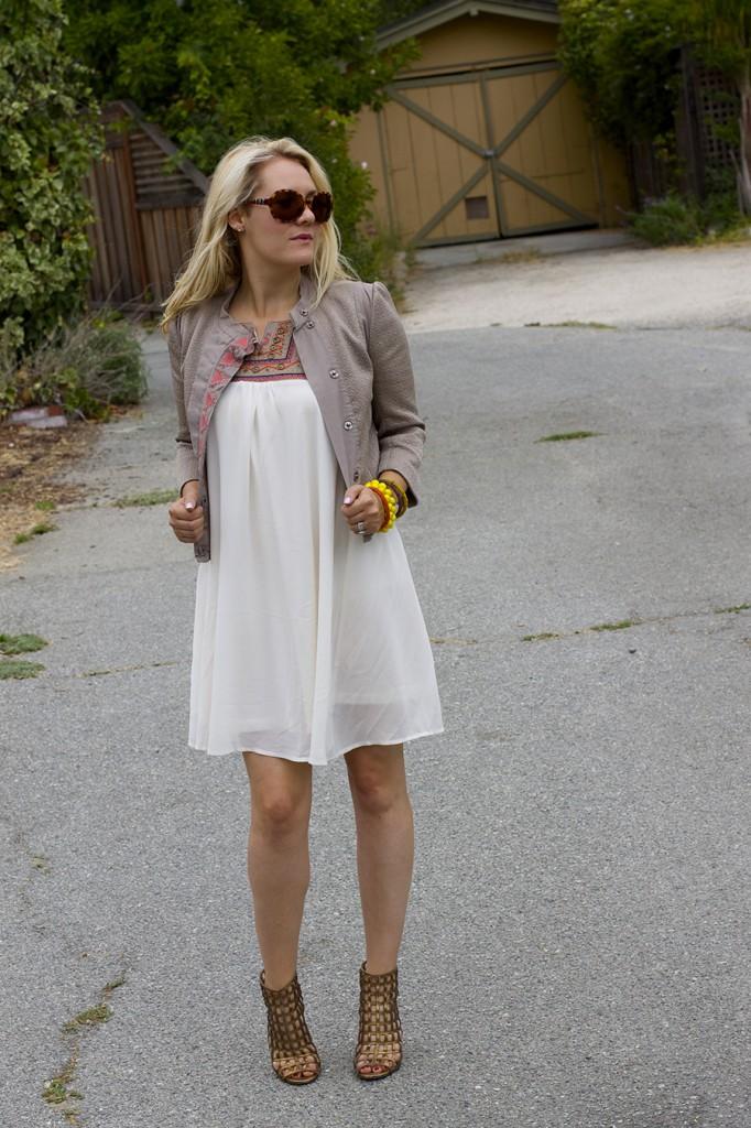 The Mint Julep Boutique Embellished Dress Flowy Dress Fashion Blogger Outfit Inspiration Summer Dress 5