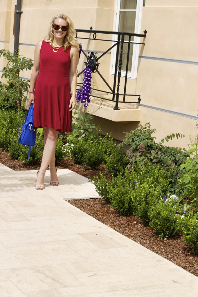 Theory Dress Lizzie Fortunato Kate Spade Handbag Fashion Blogger 4th of July Style Red White and Blue Outfit Inspiration 5