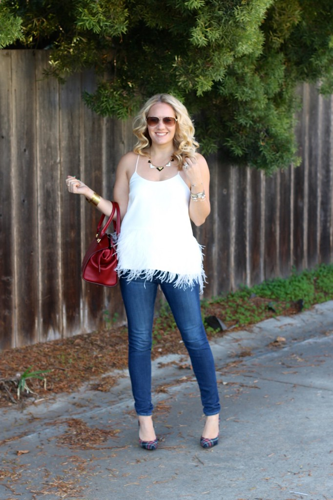 Tibi-Feather Top-Outfit Inspiration-Winter Style-Charles David- Winter Style with ShoeBuy 3