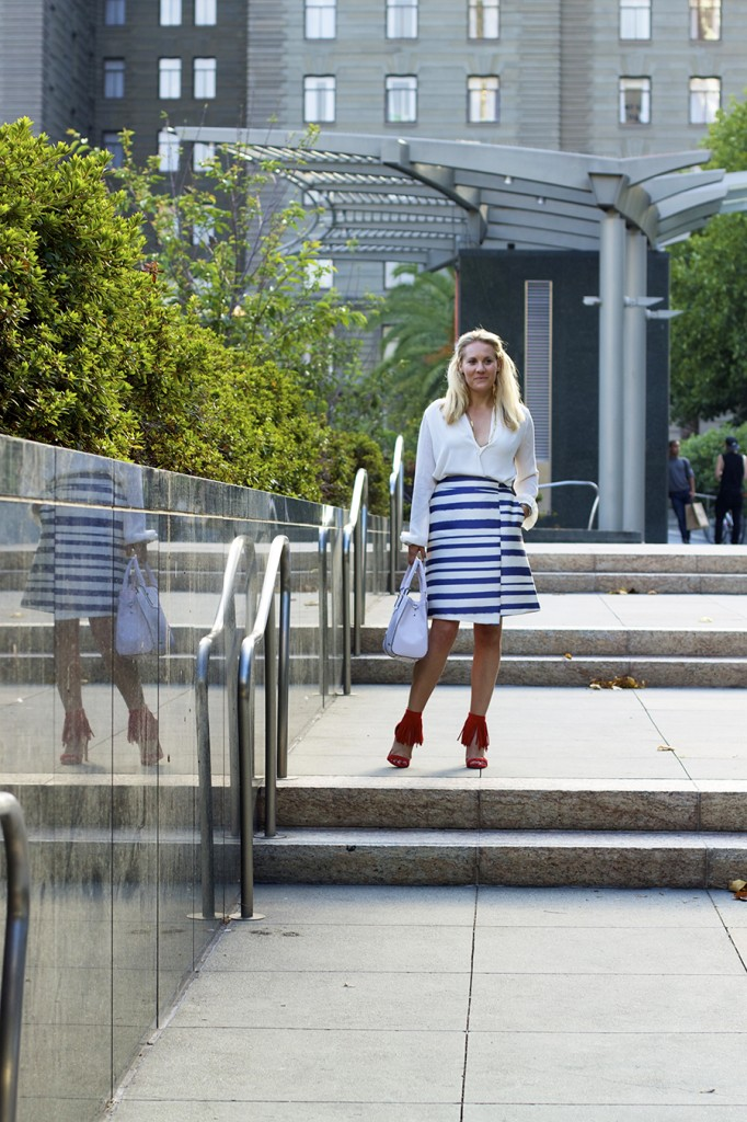 Top Shop Patriotic Outfit Red White and Blue Outfit Inspiration Nordstrom 4