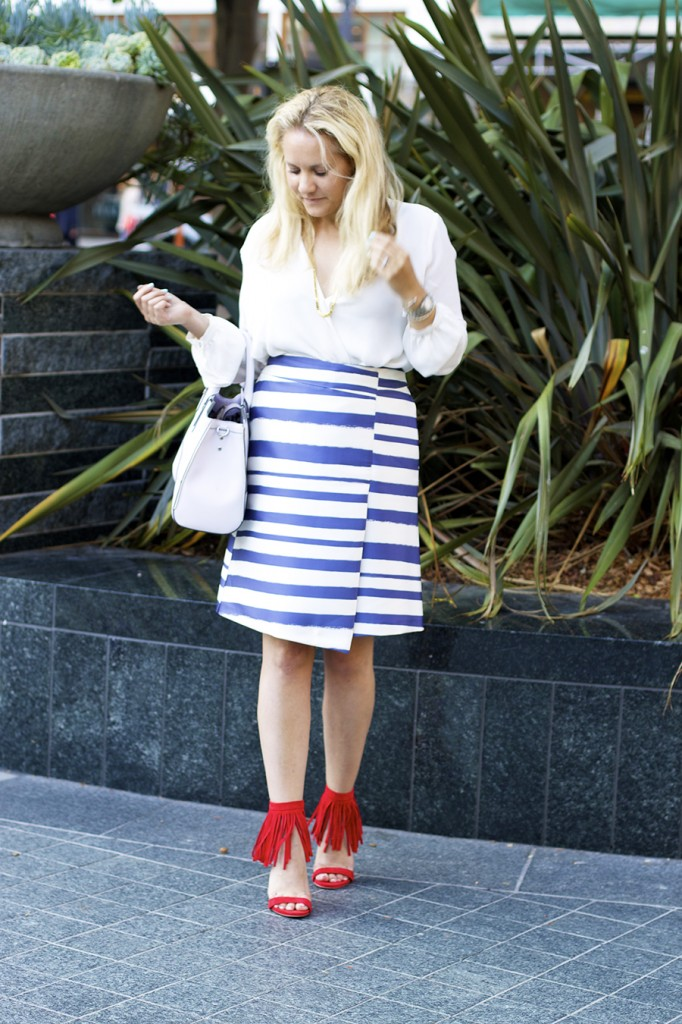 Top Shop Patriotic Outfit Red White and Blue Outfit Inspiration Nordstrom 8