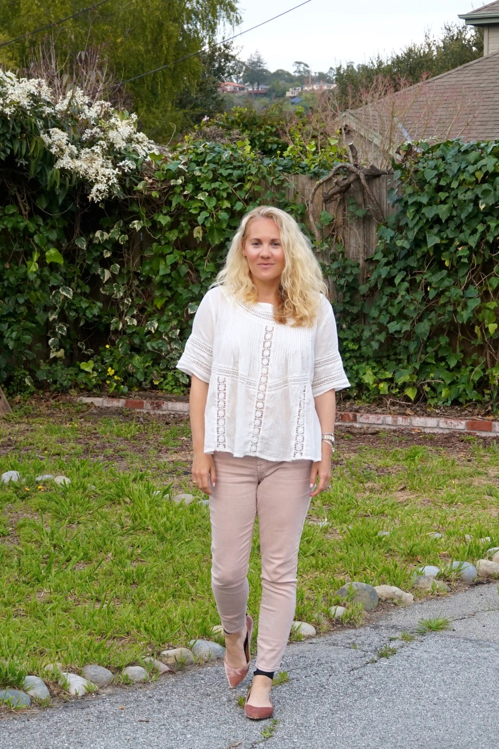 Two Ways to Wear Pale Pink Pants-Target Style-Mossimo Pants-Oufit Inspiration-Spring Style-Have Need Want