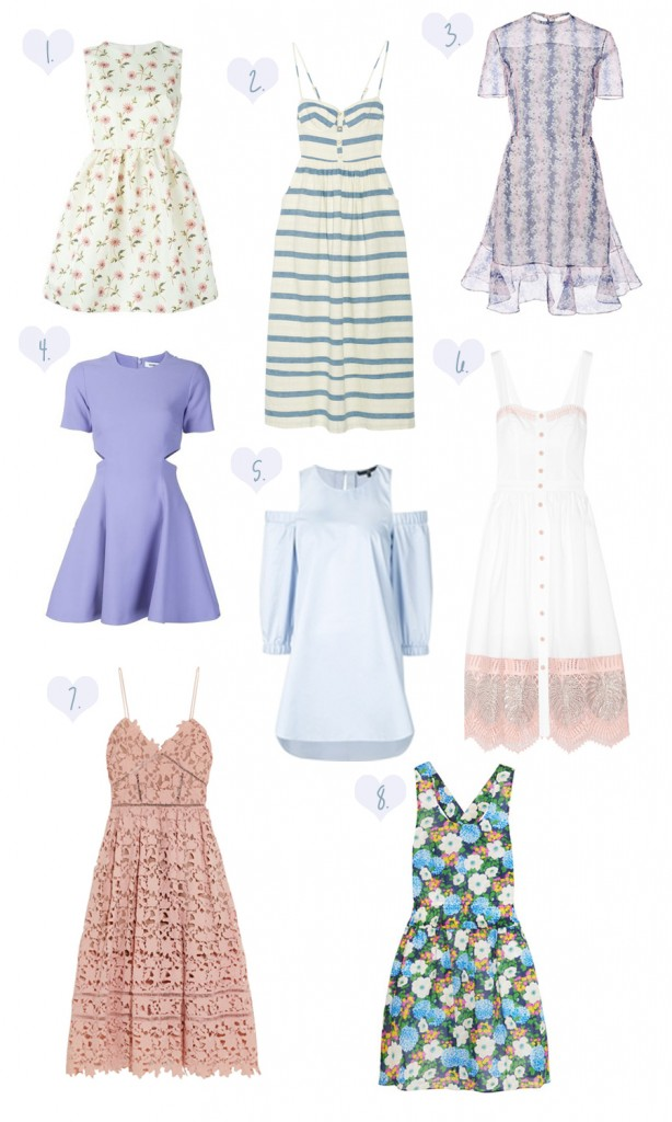 easter dresses, spring dresses, red valentino, self portrait, cutout dress, mara hoffman dress,