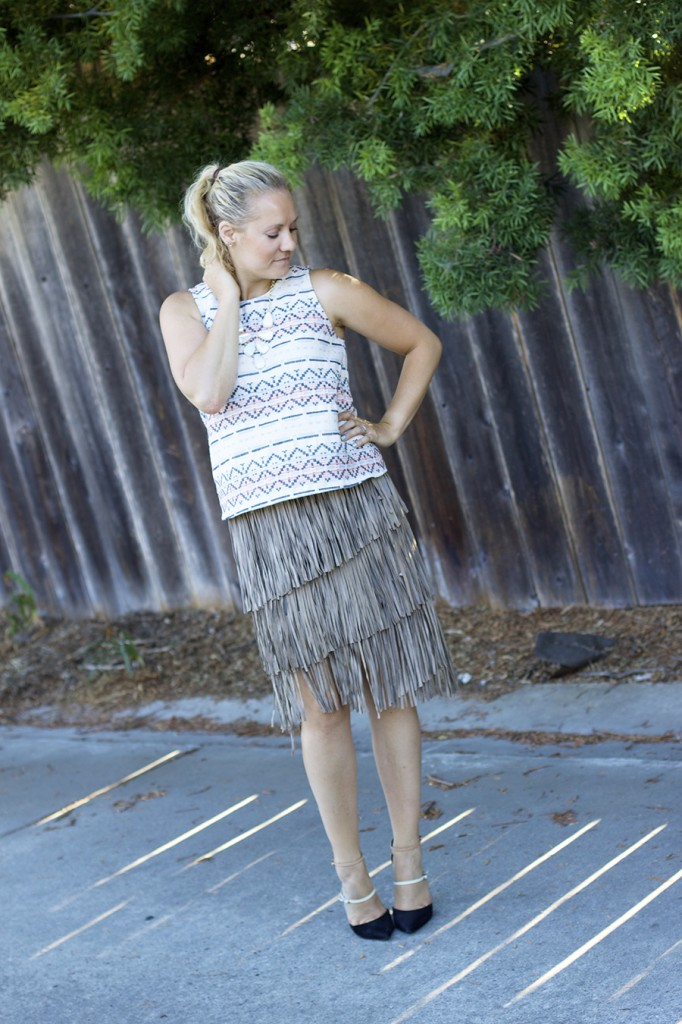 fall 2015 trend finge skirt fringe friday outfit inspiration aztec top matison stone neiman marcus fashion blogger 4