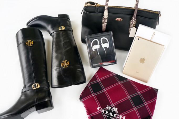 designer giveaway, tory burch boots, coach, iPad mini