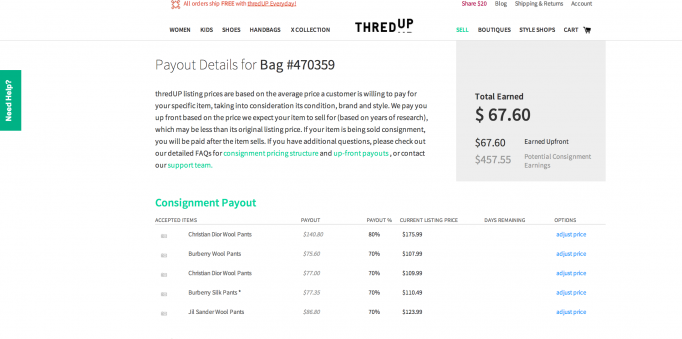 Online Consignment Thredup Vs Twice