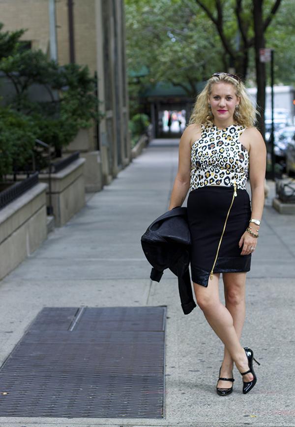wild side, nyfw, new york city, city dressing, night out, animal print, fashion blogger